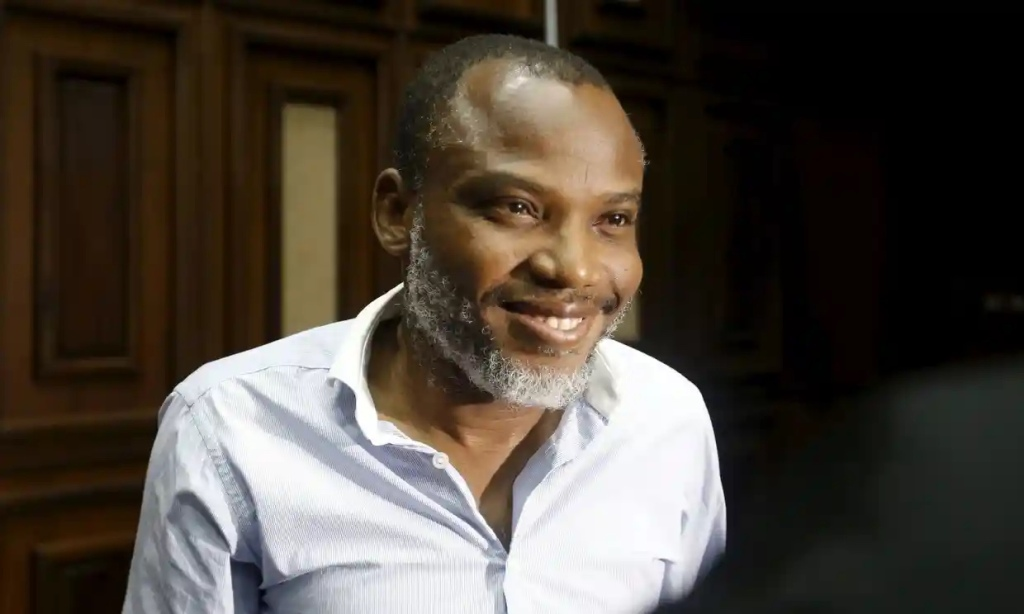 Nnamdi Kanu at the federal high court in Abuja in January 2016.